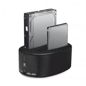 Probox USB 3.0 2.5/3.5吋 雙槽SATA硬碟外接座(極速對拷一鍵完成)