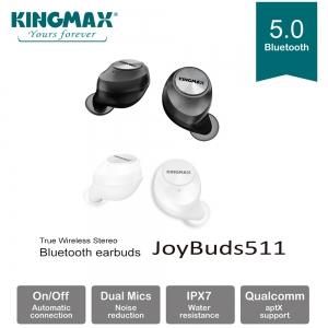 KINGMAX JoyBuds 511 真無線立體聲藍牙耳機 (經典白/鐵灰黑)